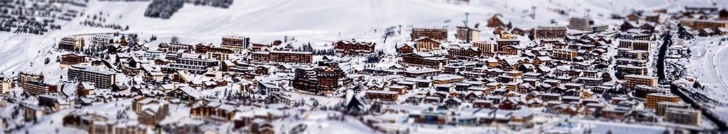 Station Alpe d'Huez hiver